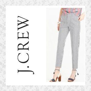 J Crew Seersucker Cropped pants